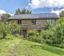 Solar panels on barn