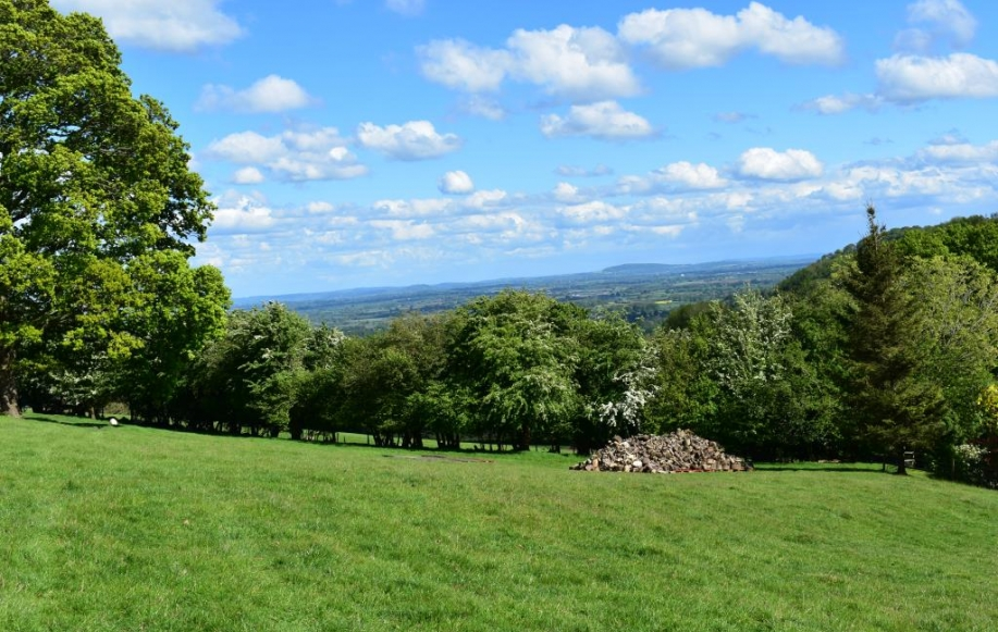 East facing views of Creden Hill & Hereford