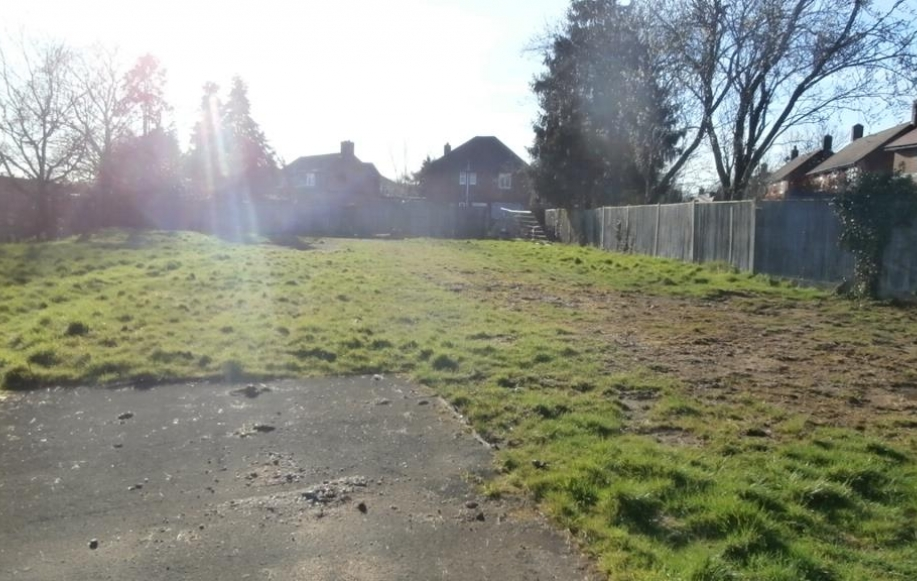 View back towards house from land