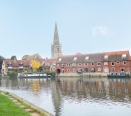 River Thames to St Helens Church