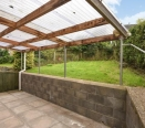Back patio and canopy