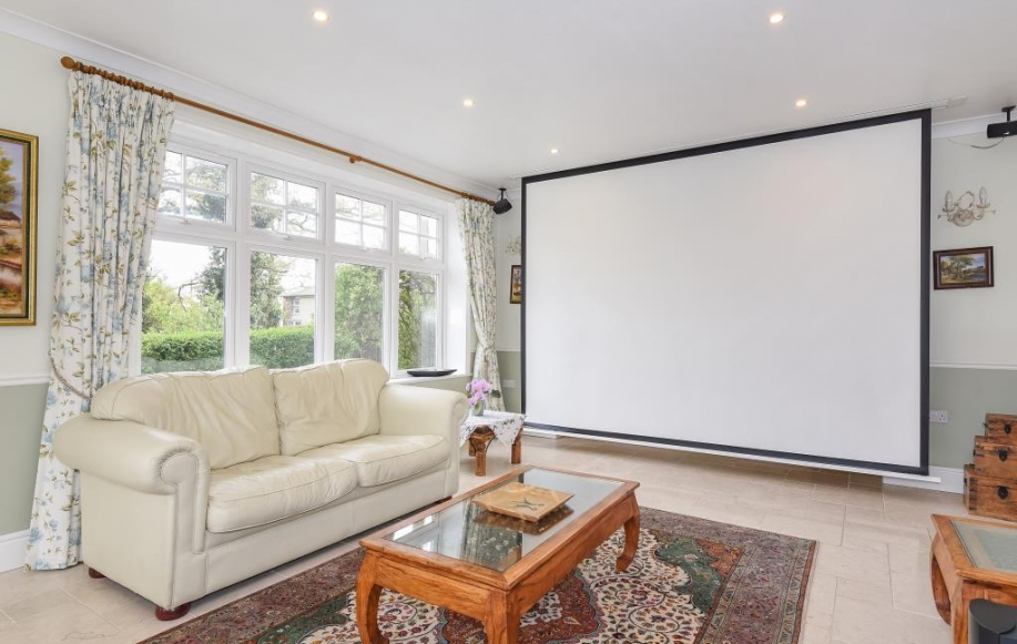 Sitting Room with Projector