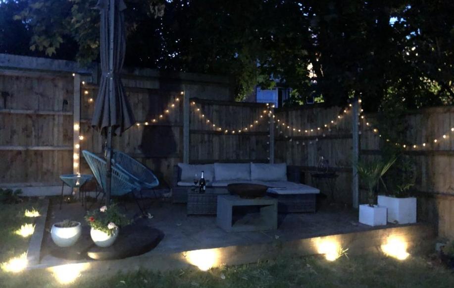Evening Garden Patio Area