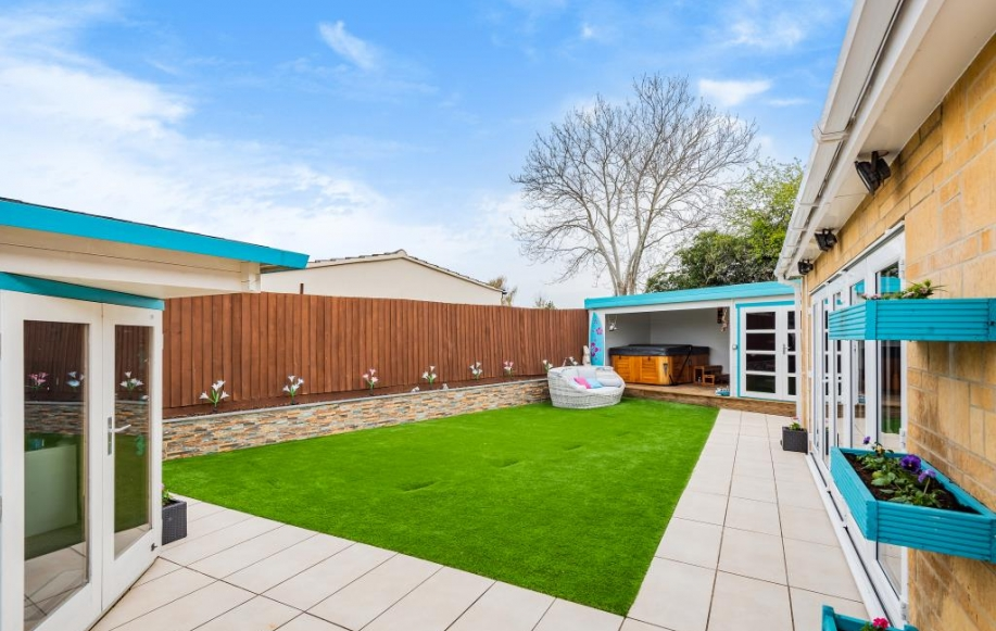 Rear Garden with Summer House and Jacuzzi Room