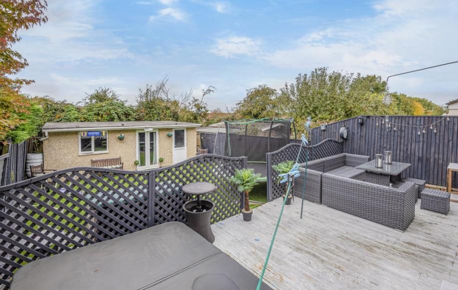 Rear Garden, Decking & Outbuilding