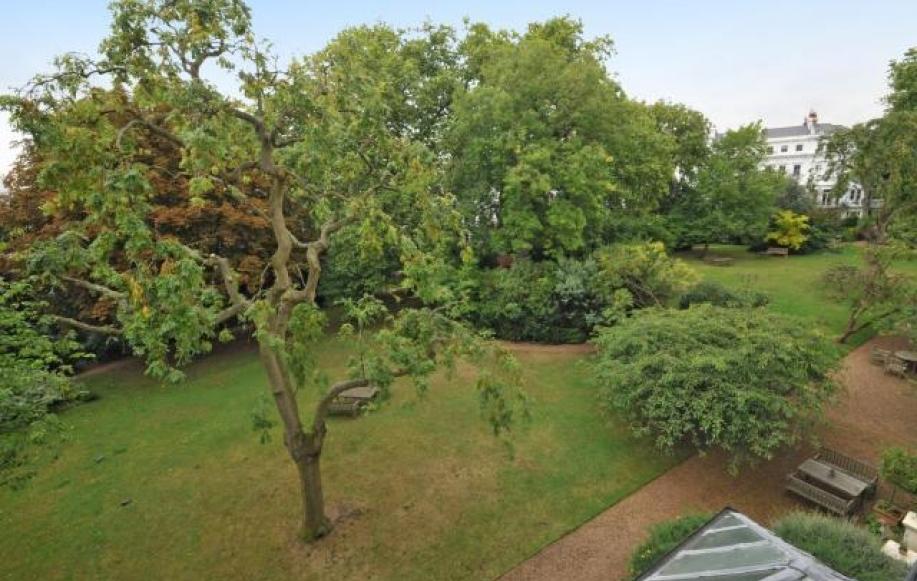 Beautiful Communal Gardens View Shot