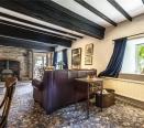 Living room, original ceiling beams & wood burner
