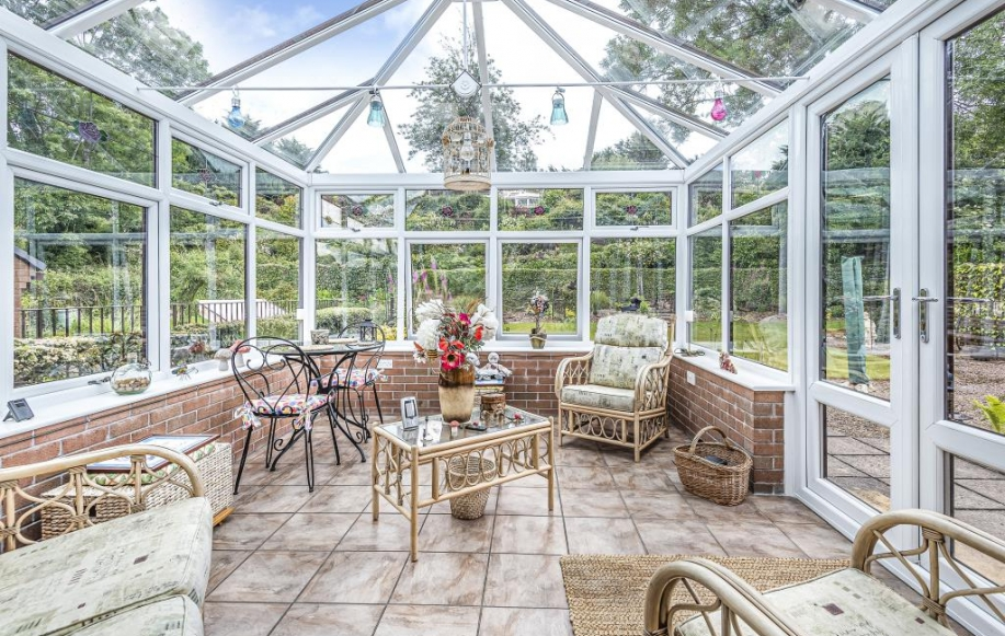 Conservatory opening on to the garden
