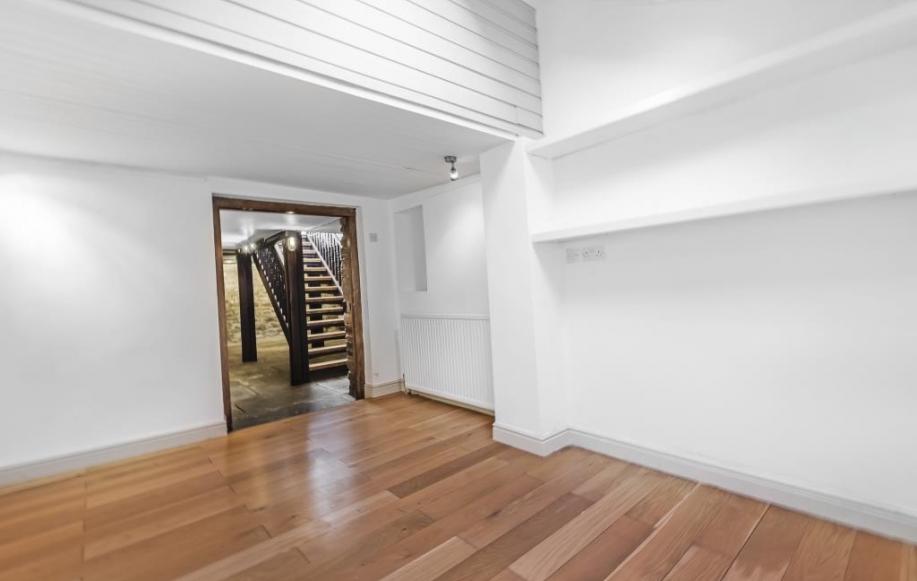 Well lit lower ground floor