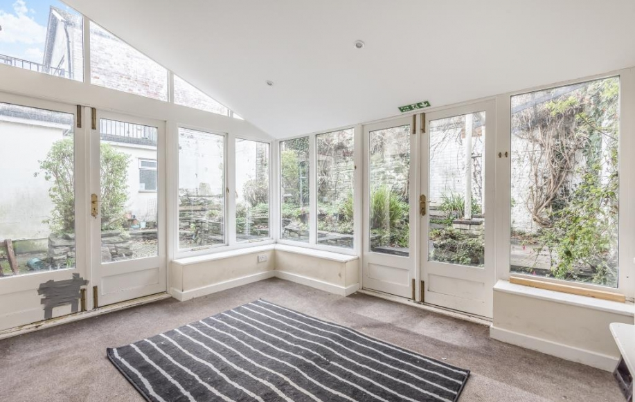 Conservatory style room with French Doors