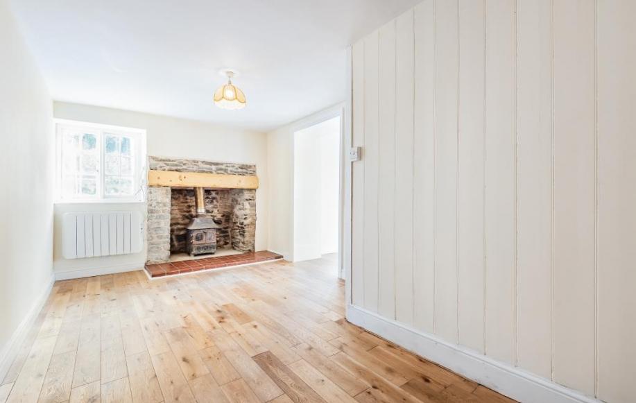 reception room 2 with log burner