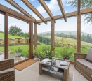 Glazed Garden Room overlooking open farmland