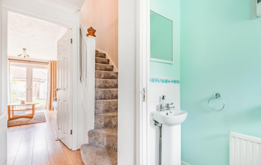 Hallway with Downstairs Cloakroom