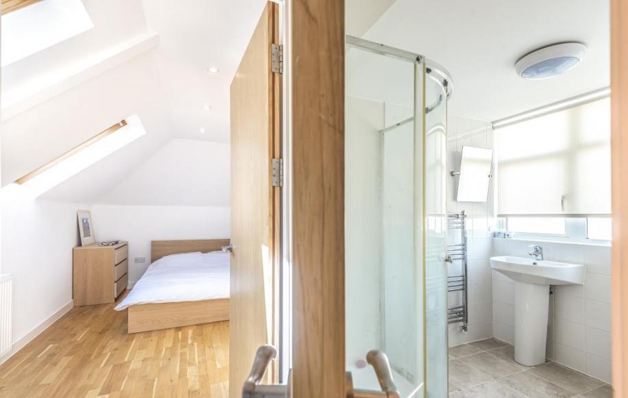 View of Bedroom & Bathroom