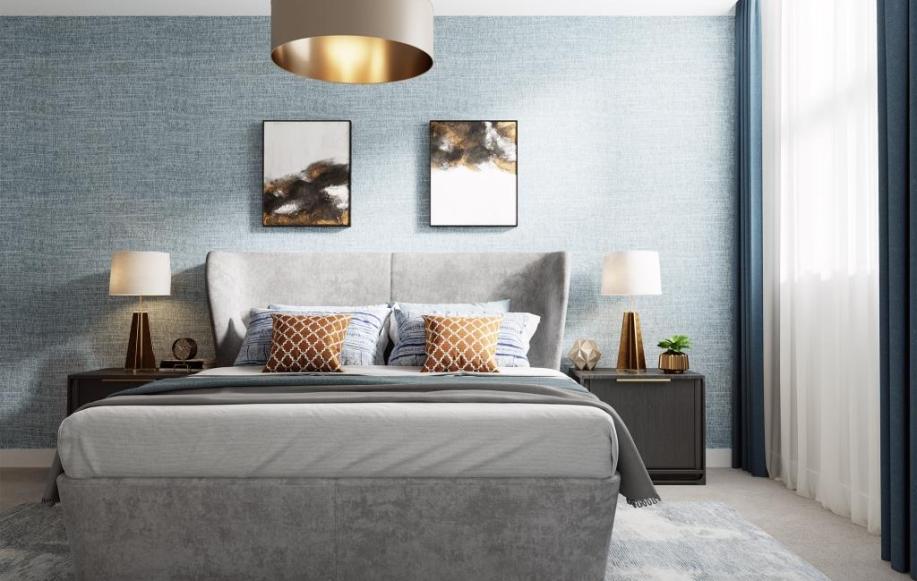 Bedroom of development show flat