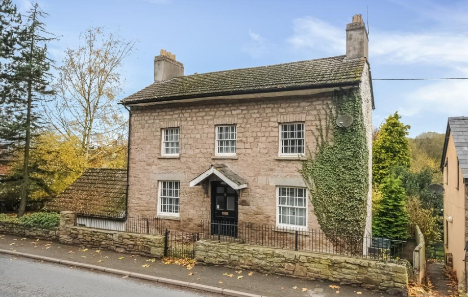 Three storey stone house with gardens and parking