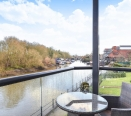 Balcony with River Views