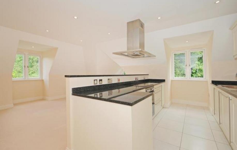Open plan kitchen onto reception room