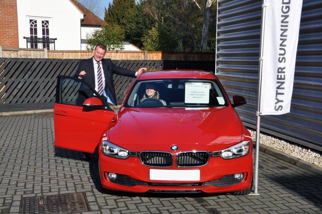Libby Shuttle with Paul Bosanko of Chancellors at Sytner Sunningdale