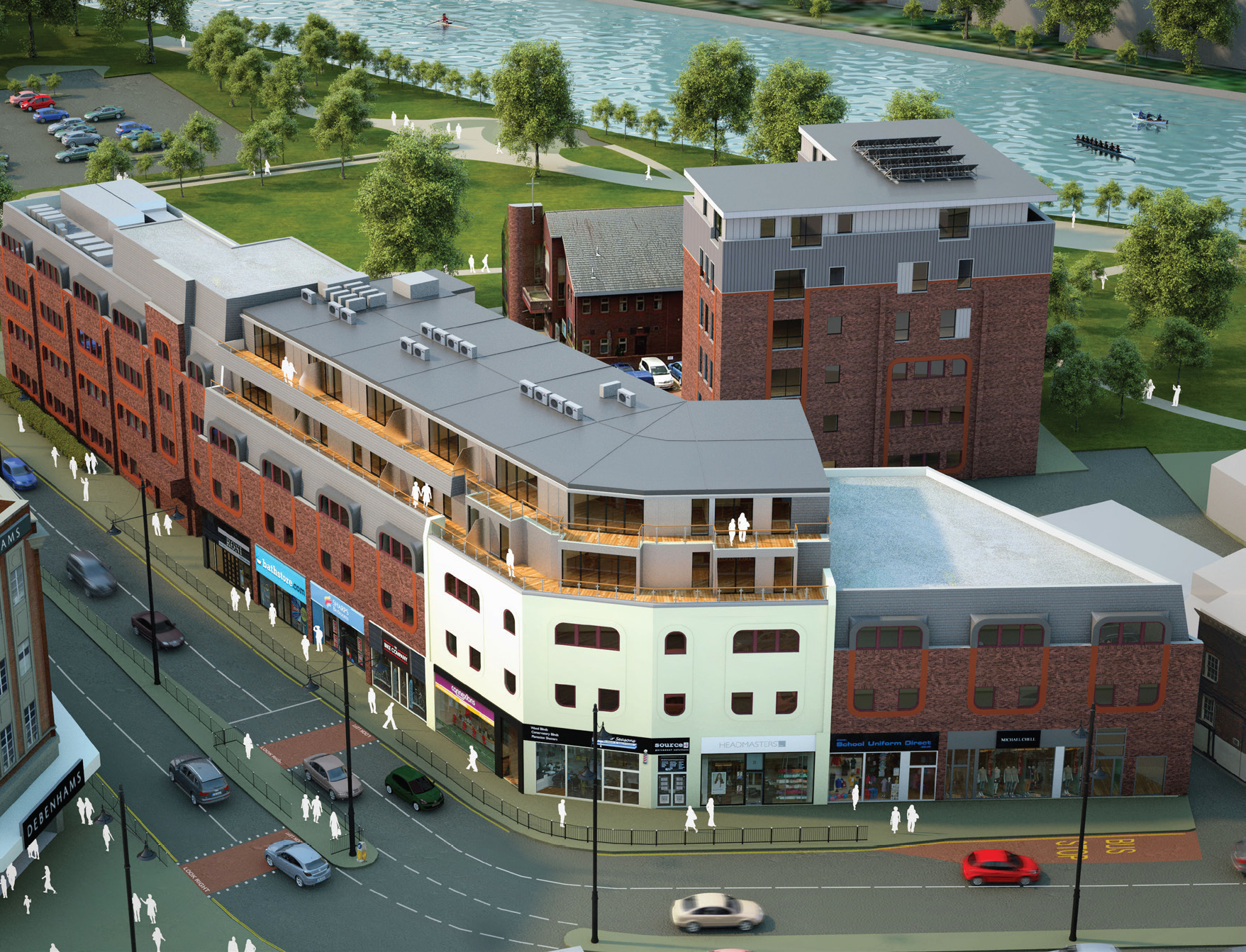 Waterside new home development, Staines-upon-Thames