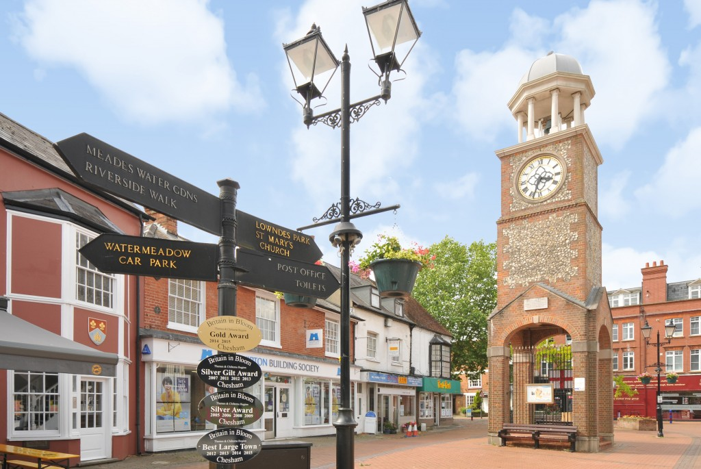 Clock tower in Chesham town centre