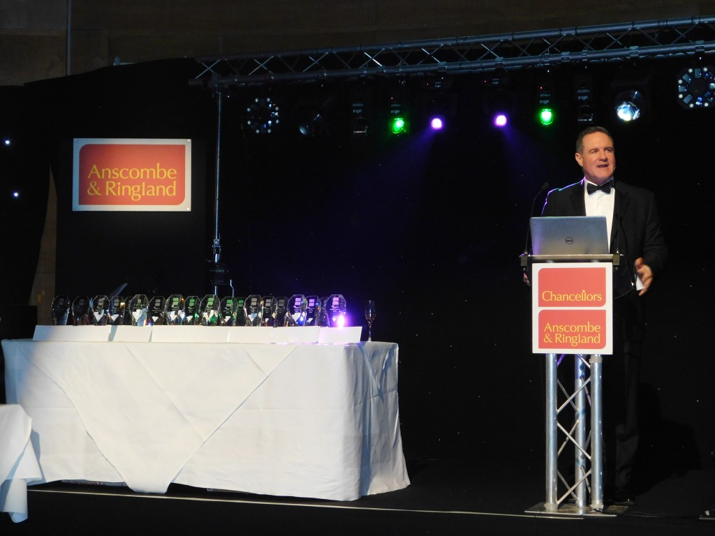 Operations Director Darren Simpson presenting the awards ceremony