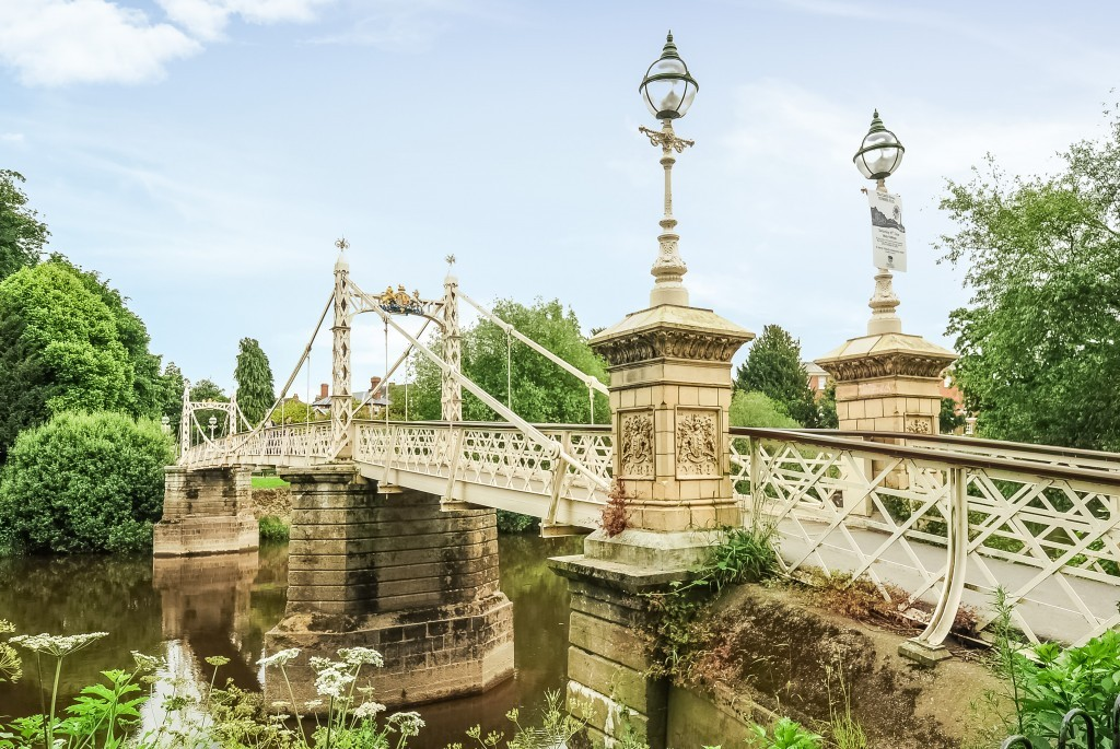 Victoria Bridge in Hereford, opened in 1898