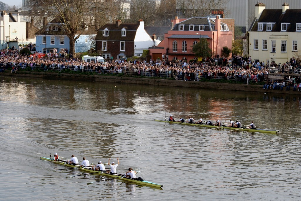 The famous Oxford and Cambridge boat race