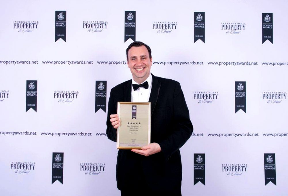 Michael Truman Accepting Award for Chancellors Botley